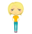 Chibi girl vector image vector image