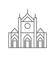 church sign line icon sign vector image vector image