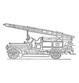 dennis six cylinder fire engine with centrifugal vector image vector image