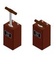 detonator boxes blasting machine isolated on vector image vector image