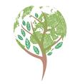 Earth tree vector image vector image