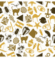 egypt country theme color icons seamless pattern vector image vector image