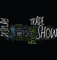 eight success tips for your first trade show vector image vector image