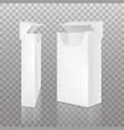 empty open pack slim cigarettes vector image vector image