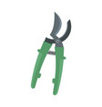 farm secateurs icon flat style vector image vector image