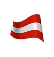 flag of austria is red and white vector image