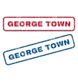 George Town Rubber Stamps vector image vector image
