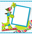 Giraffe Greeting Card Template vector image
