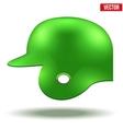 Green baseball helmet vector image vector image