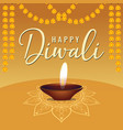 greeting card for diwali festival vector image vector image