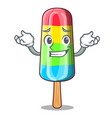 grinning character beverage colorful ice cream vector image vector image