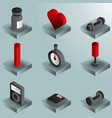 gym color gradient isometric icons vector image vector image