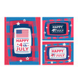 happy 4th july abstract with paper vector image vector image