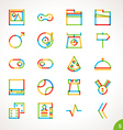 highlighter line icons set 5 vector image vector image