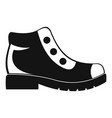 hiking boots icon simple vector image vector image