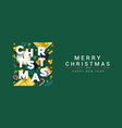 holiday new year card - merry christmas on vector image vector image