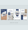 home interior instagram stories promotion template vector image vector image