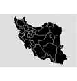 iran map - high detailed black map with vector image vector image