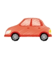Isolated car symbol vector image vector image
