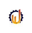 letter u construction creative business logo vector image vector image