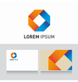 Logo company card ribbons vector | Price: 1 Credit (USD $1)