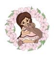 love bear girl sakura wreath animal