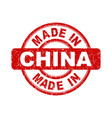 made in china red stamp on white background vector image vector image