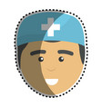 medical man doctor with surgical cap vector image vector image