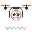 medication quadcopter flat icon vector image vector image