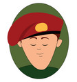 military red beret on white background vector image
