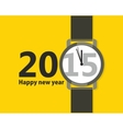Minimalistic Creative poster Happy New Year vector image