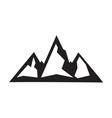 mountain icon2 vector image vector image
