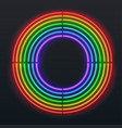neon sign in shape circle isolated on black vector image vector image