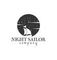 night sailor logo graphic design template vector image vector image
