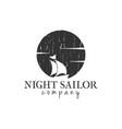night sailor logo graphic design template vector image