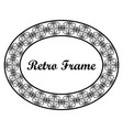 oval ornamental art deco frame vector image vector image