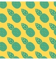 pineapple tropical fruit seamless pattern vector image vector image