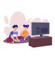playing games flat set vector image vector image