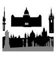 Prague silhouette vector image