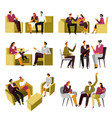 psychotherapy session family couple vector image