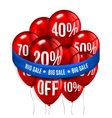Red flying party balloons with text SALE and vector image vector image