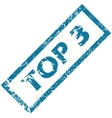Rubber stamp TOP 3 vector image