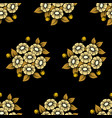 seamless daisy gold background vector image vector image