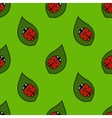 Seamless pattern - ladybugs vector image vector image