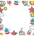 summer frame cartoon vector image vector image