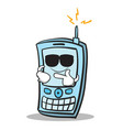 super cool phone character cartoon style vector image vector image