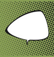 triangular speech bubble vector image vector image