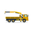 truck crane commercial vehicles construction vector image