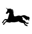 unicorn silhouette mythology symbol fantasy vector image vector image