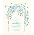 Wedding rose arch vector image